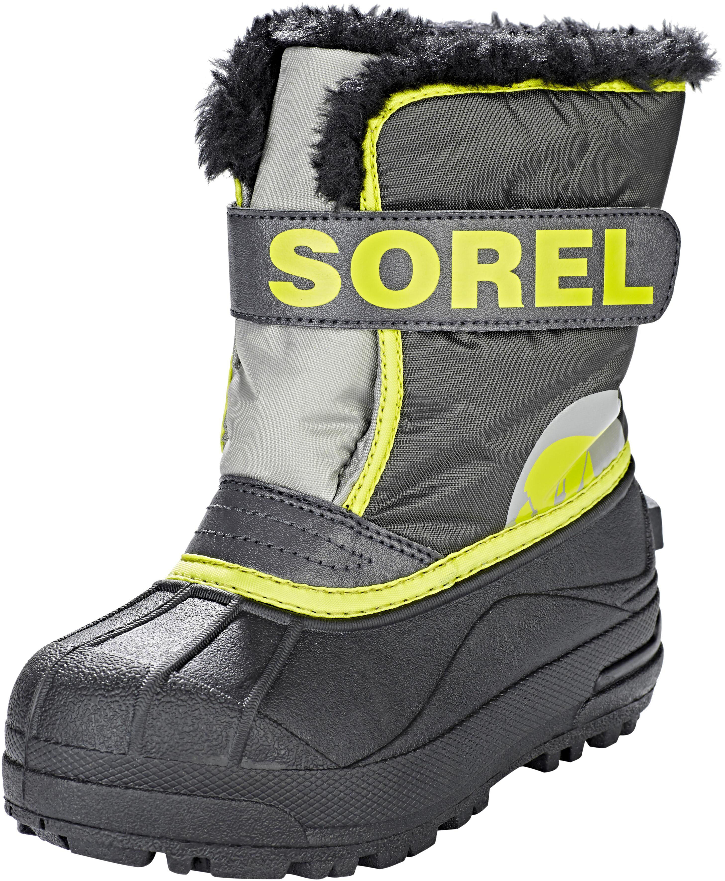 Sorel Snow Commander - Bottes Enfant - jaune noir sur CAMPZ ! 357edb751a0d